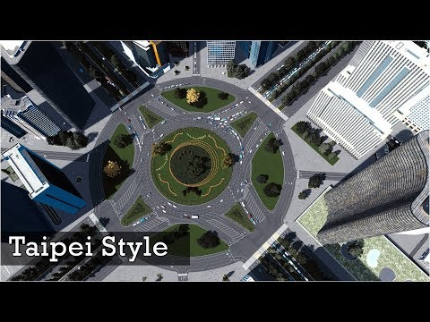 The Grand Roundabout from Taipei - Cities Skylines: Custom Builds