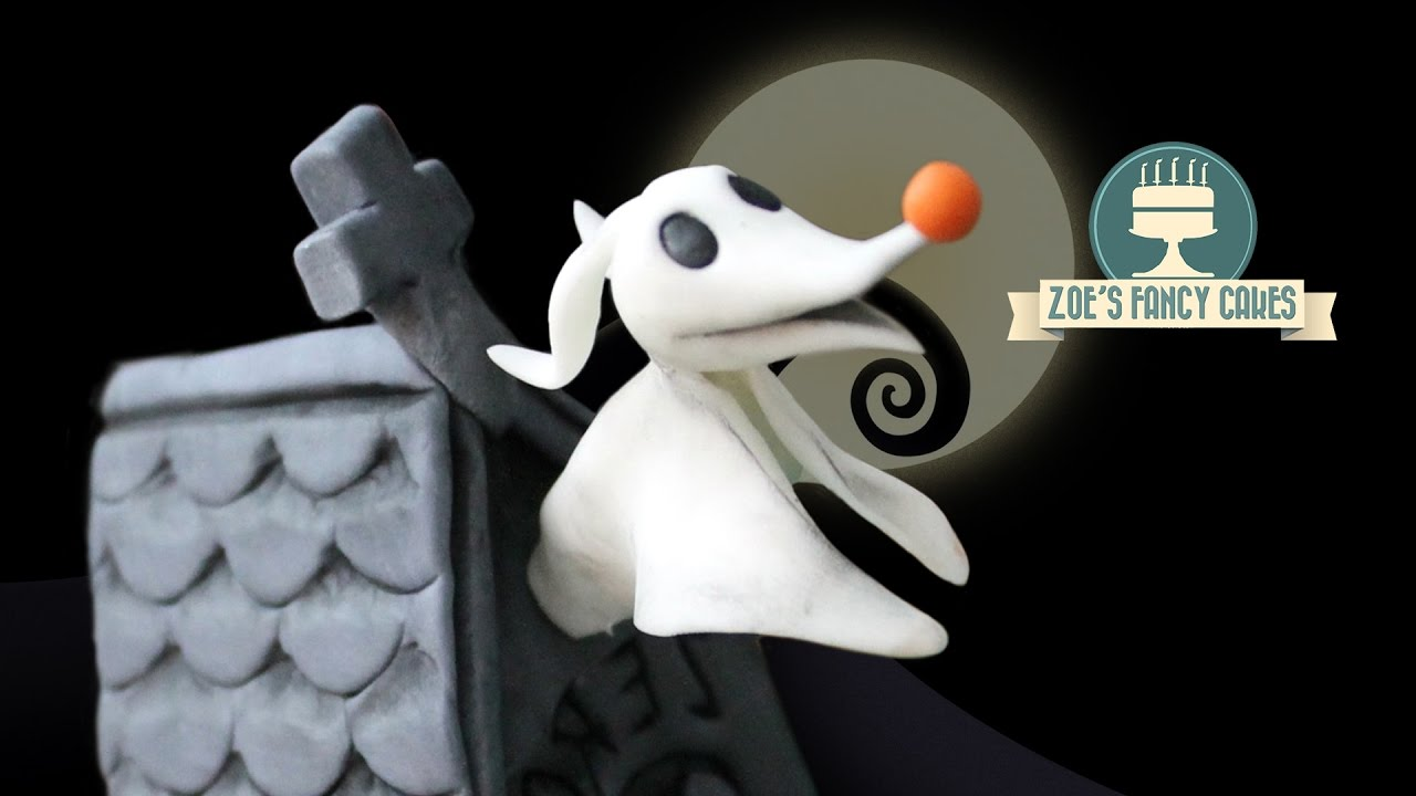 Zero cake topper The Nightmare Before Christmas : Halloween - YouTube