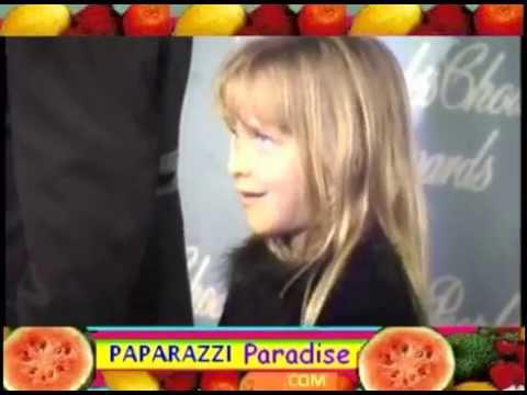 Seven-year-old DAKOTA JOHNSON, brother ALEXANDER join DON JOHNSON at People's Choice Awards 1997