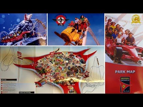 Theme Park Map Monday Ferrari World Winterfest Episode 39 2017 / 2018 Abu Dhabi, UAE Christmas Dubai