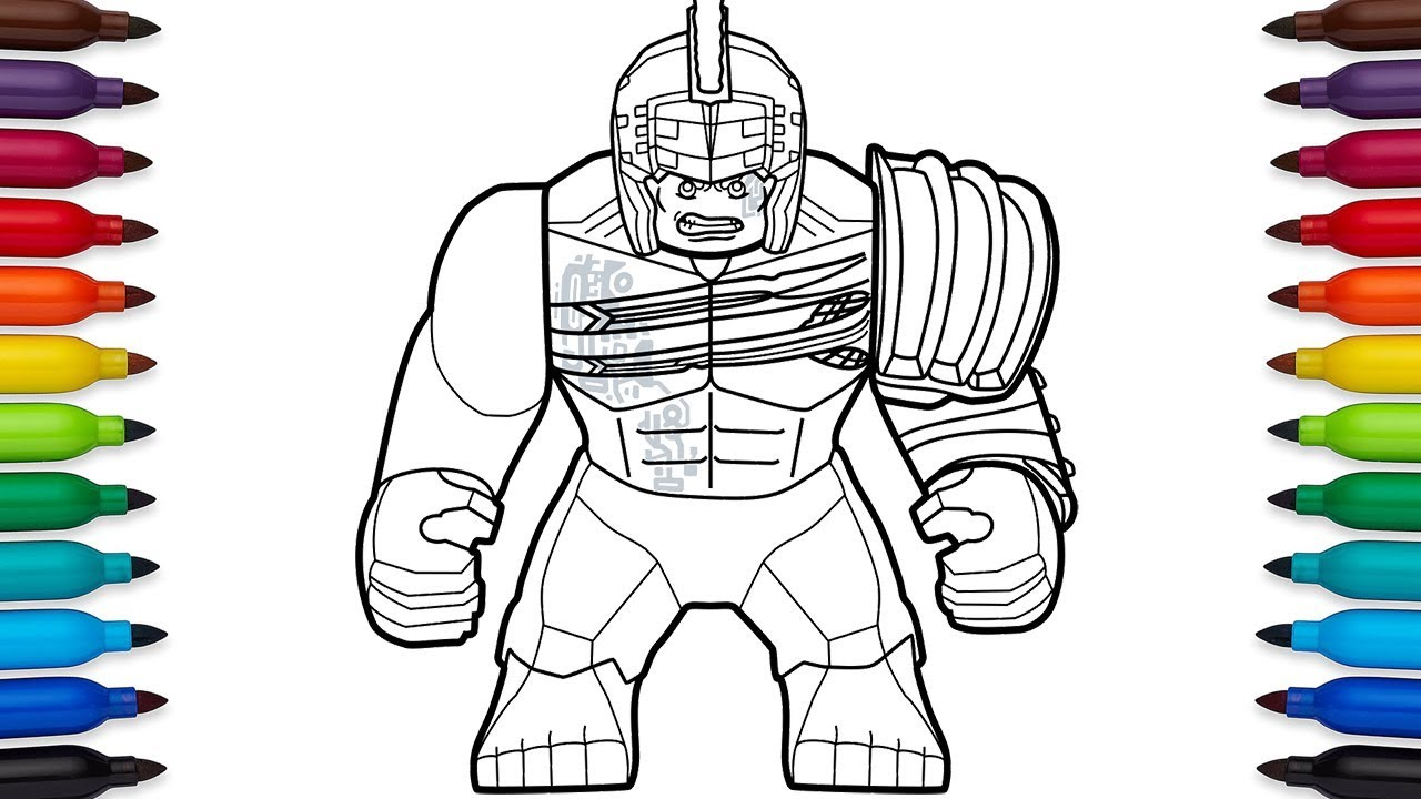 Superb How To Draw Lego Hulk From Marvelu0027s Thor: Ragnarok Movie
