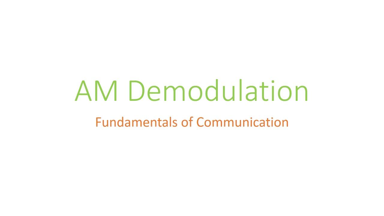 Am Demodulation Matlab Simulation Simulink Youtube Envelope Detection Based Circuit Diagram
