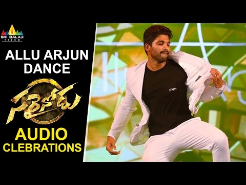 Allu Arjun Dance at Sarrainodu Movie Audio Celebrations | Sri Balaji Video