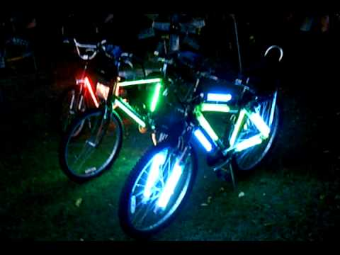 Custom Bicycles With L E D Amp Fluorescent Lights Video