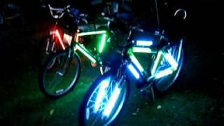 Custom bicycles with L.E.D. & Fluorescent Lights,video & Sound
