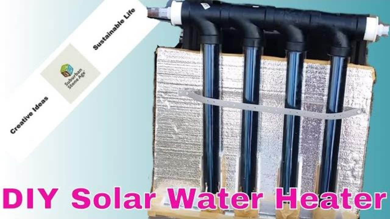 How To Make A Solar Hot Water Heater At Home Diy Solar Vacuum Tube