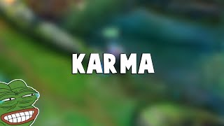 Here's PURE INSTANT KAŔMA Moment in League of Legends   Funny LoL Series #990