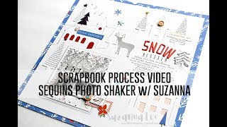 Process Video - Sequins Photo Pocket Tutorial and Christmas in July with Suzanna