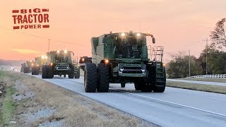 John Deere S780 Combines On the Move in Soybeans