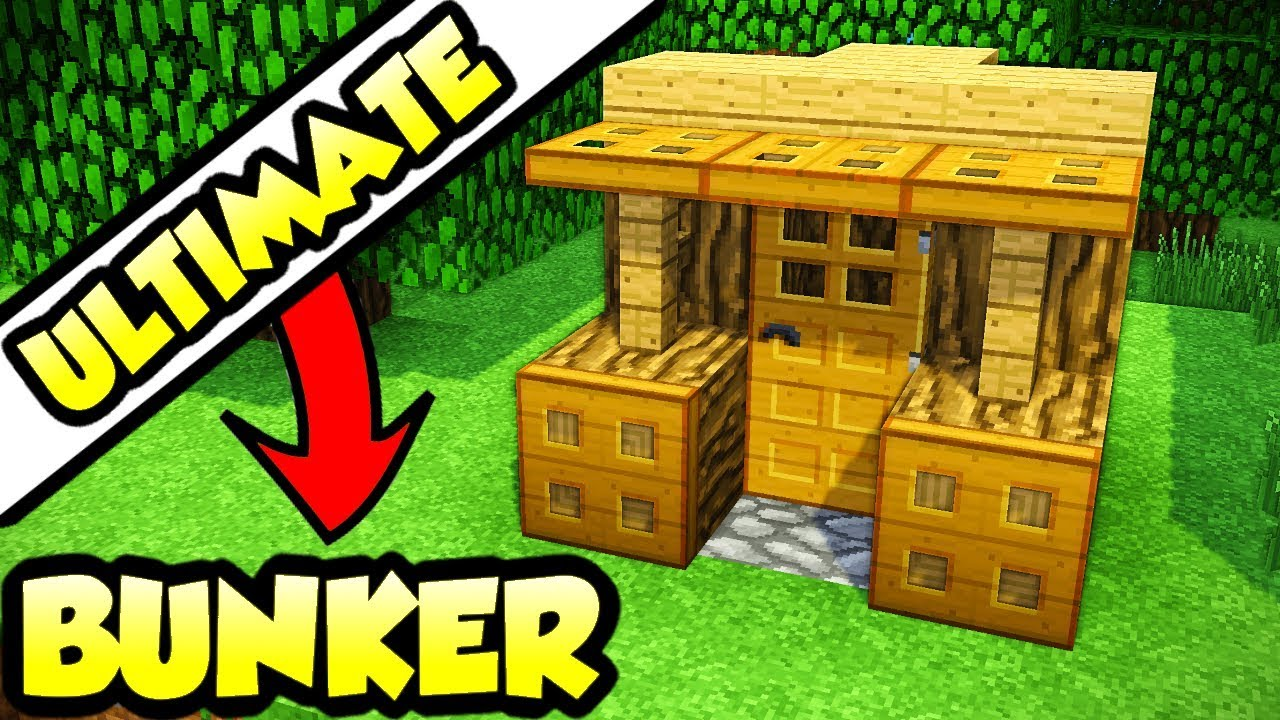 Minecraft Ultimate Survival Bunker Tutorial  How To Build