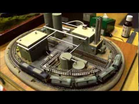 Late shift, a small N gauge model railway layout