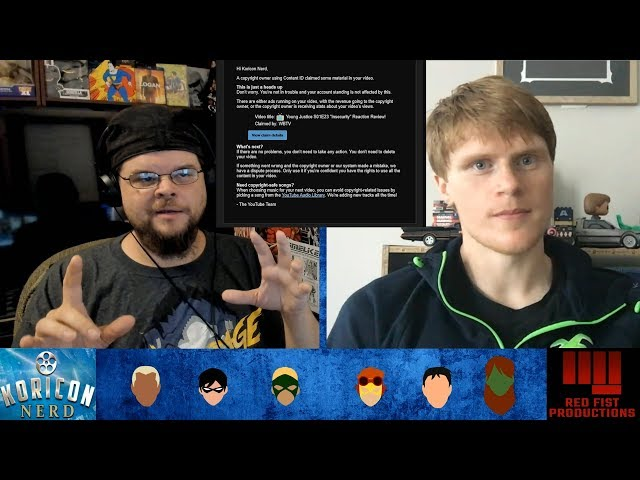 🎤 Young Justice Reaction Review Videos Have To Change! Copyright Issues