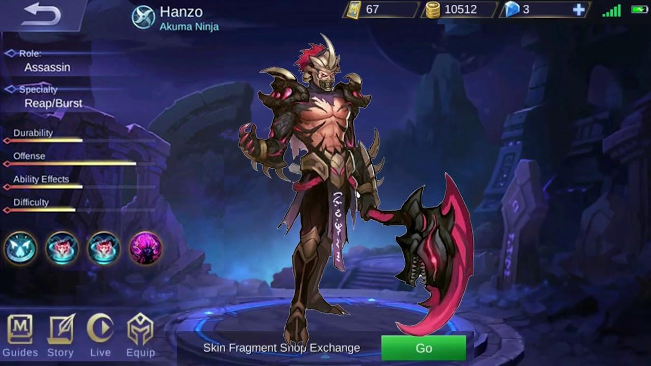 hanzo akuma ninja voice and quotes mobile legends
