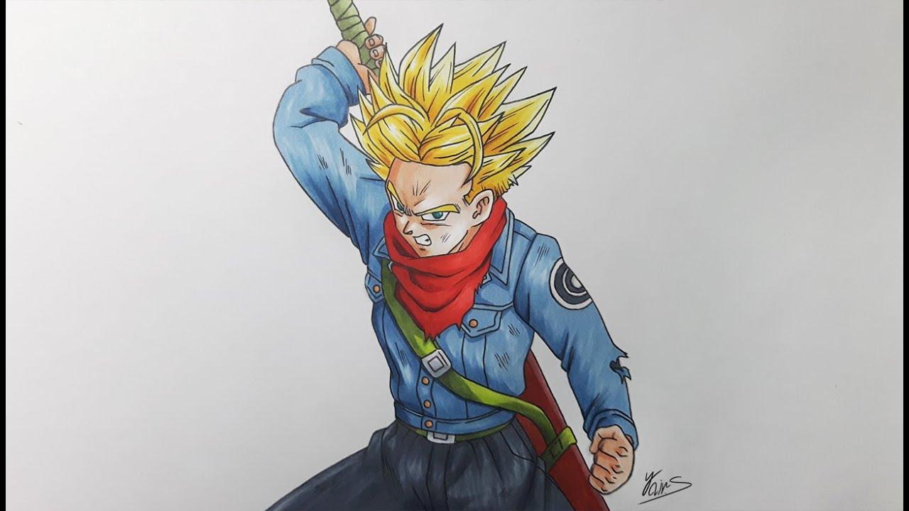 Drawing Future Trunks Super Saiyan - Dragon Ball Super ...