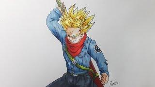 Drawing Future Trunks Super Saiyan - Dragon Ball Super