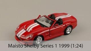 Розпакування Maisto Shelby Series One 1999 (1:24)