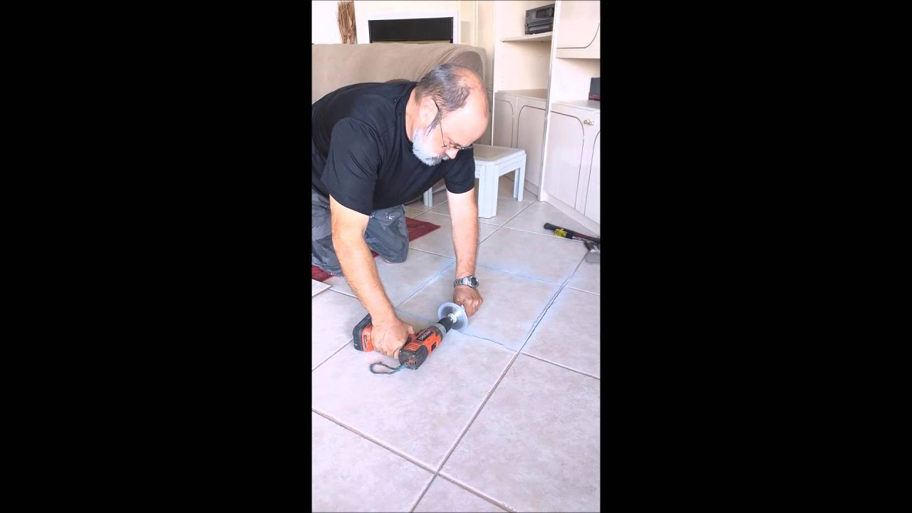 Remove grout and replace broken floor tile easily youtube remove grout and replace broken floor tile easily dailygadgetfo Image collections