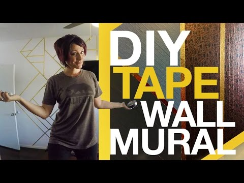 DIY Tape Wall Mural - YouTube