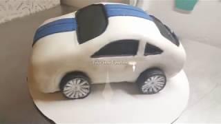 Pastel en forma de carrito