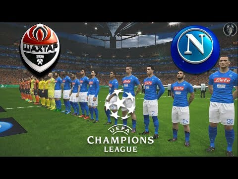 "Shakhtar Donetsk vs Napoli | UEFA Champions League | PES 2018 ""Graphics"" 