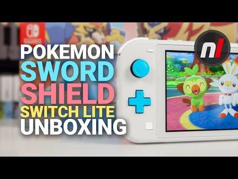 Pokemon Sword & Shield Zacian & Zamazenta Nintendo Switch Lite Unboxing