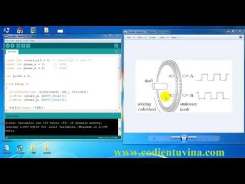 Hướng dẫn đếm xung Encoder cùng với Arduino - www.codientuvina.com