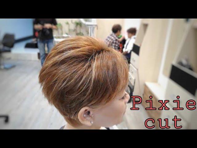Pixie Cut Haircut Girl Potong Rambut Wanita Pendek Youtube