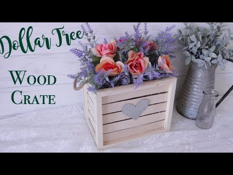 Dollar Tree DIY Farmhouse Wood Crate | Farmhouse Decor