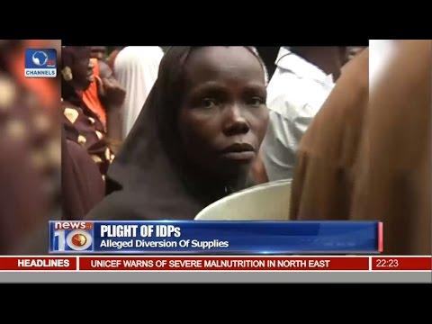 News@10: IDPs Protest Against Neglect In Maiduguri, Bornu State 25/08/16 Pt 2