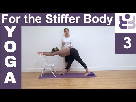 Yoga for the Stiffer Body. Set 3. Parsvottanasana.Iyengar Yoga for Beginners