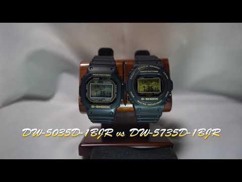[4K Comparison] DW-5035D-1BJR vs DW-5735D-1BJR [CASIO G-SHOCK 35th ANNIVERSARY LIMITED MODELS]