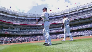 Derek Jeter Hits His 3,000th   Dad Throws Out The First Pitch