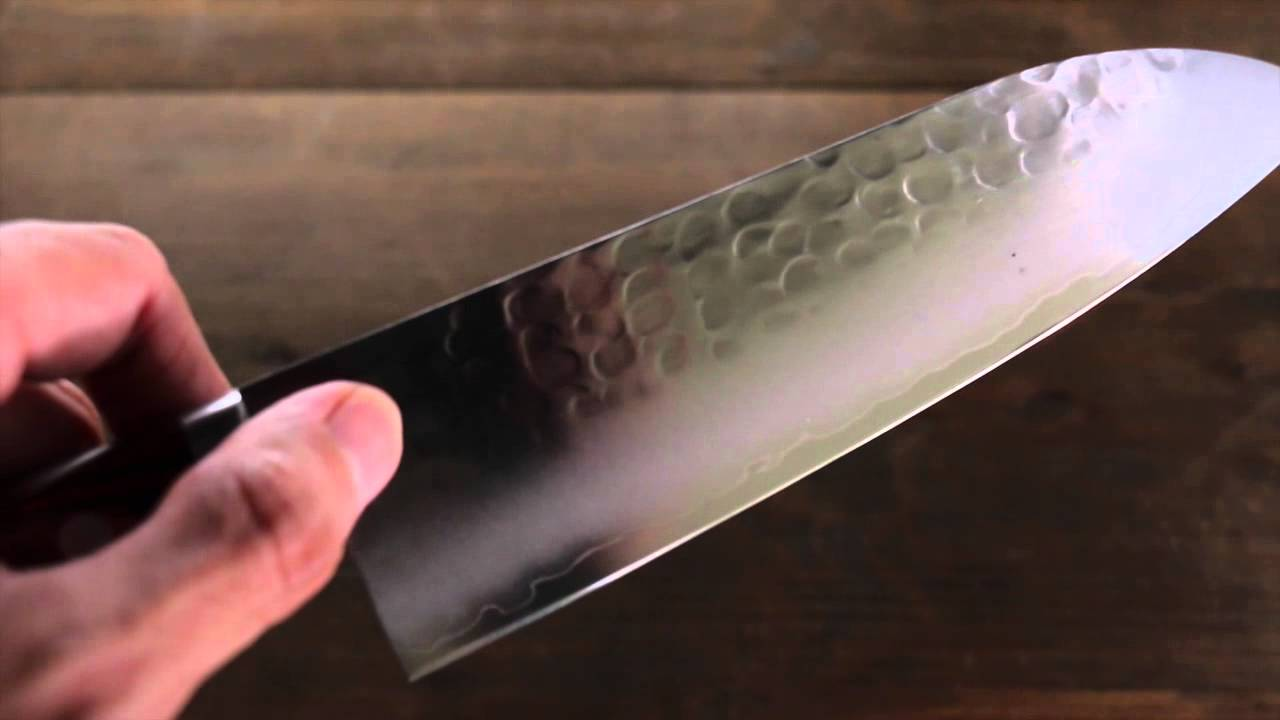 Kanetsune VG1 3 Layer Hammered Santoku Japanese Chef Knife 165mm