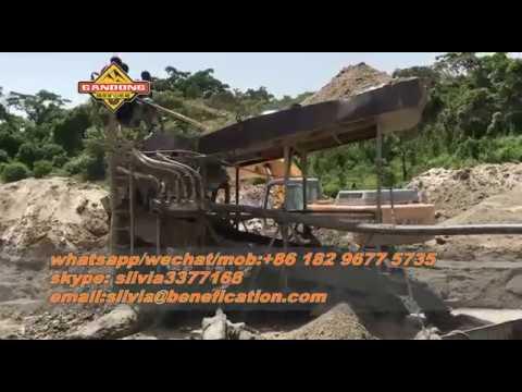 Cameroon Big Alluvial Gold Sluice Box