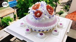 cake decorating purple bettercreme vanilla (497 ) Học Làm Bánh Kem Gía Rẻ Tím Nhẹ (497)