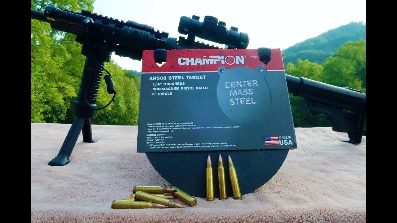 223 vs Walmart AR500 steel target