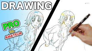 Japanese Pro vs. Amateur|Female Anime Shading