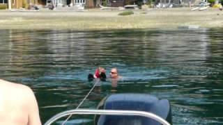 carsen water skiing