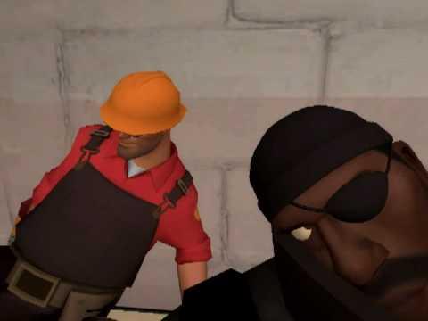 Demoman tries to lick Engineer