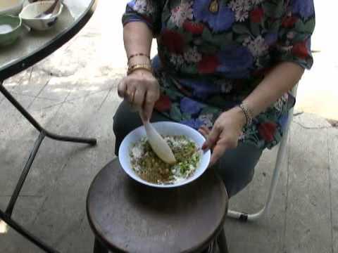 Thai Street Vendor Fish Cakes Tod Mun Goong