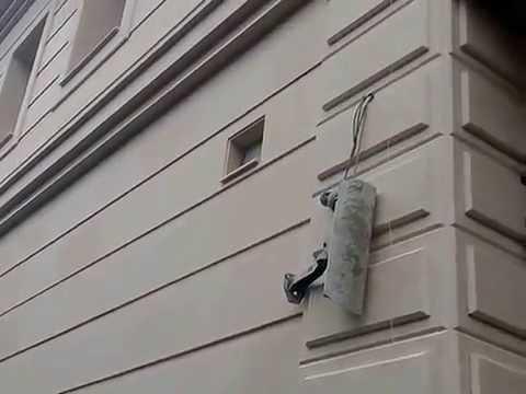 Монтаж травертина на фасад