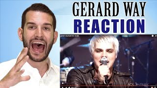 SINGING TEACHER reacts to Gerard Way