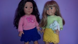 How To Crochet  A Skirt For A 18 Inch Doll