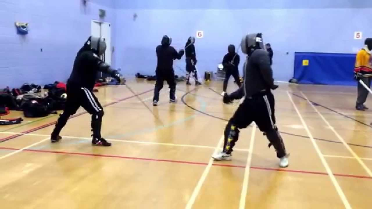 AHF sabre sparring Nick vs Artur 2015 - YouTube