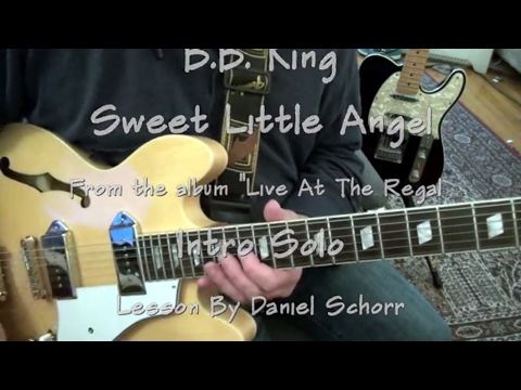 LESSON - B.B. King - Sweet Little Angel (Live at the Regal) - 1st solo. 100%Accurate