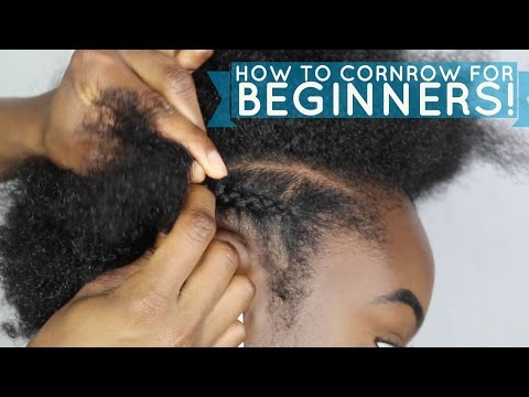How to braid/cornrow FOR BEGINNERS!