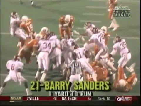BARRY SANDERS VS THE SOONERS 1988