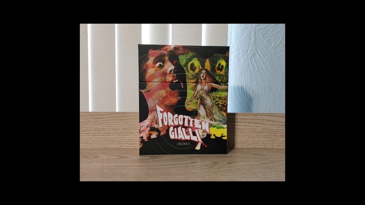 Download Forgotten Gialli Volume 3 Blu-ray Unboxing - Vinegar Syndrome