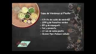 Receta para Preparar Sopa de Verduras al Pesto