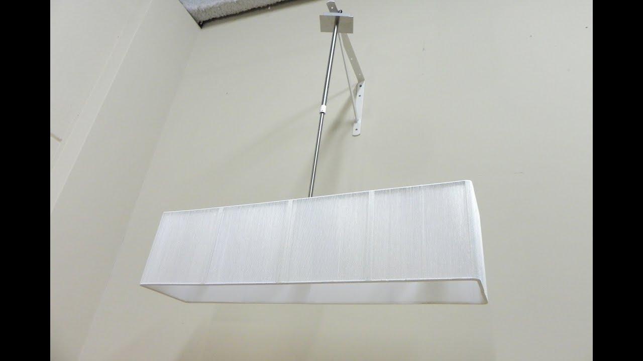 Lampara de techo rectangular para salon comedor grande